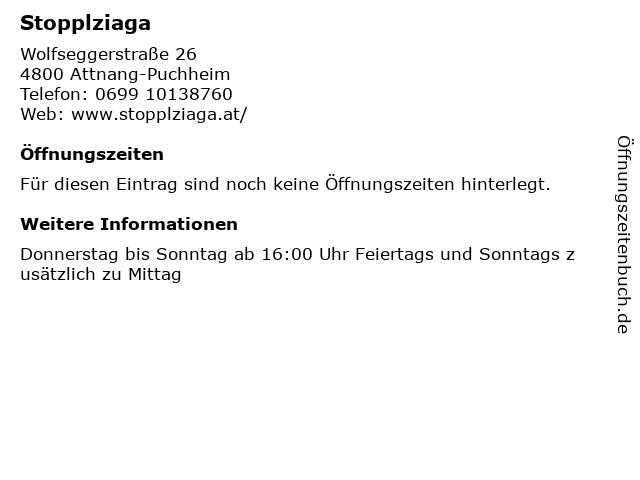 Stopplziaga in Attnang-Puchheim: Adresse und Öffnungszeiten