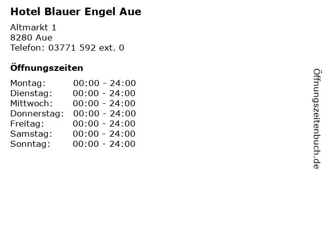 Hotel Blauer Engel Aue in Aue: Adresse und Öffnungszeiten