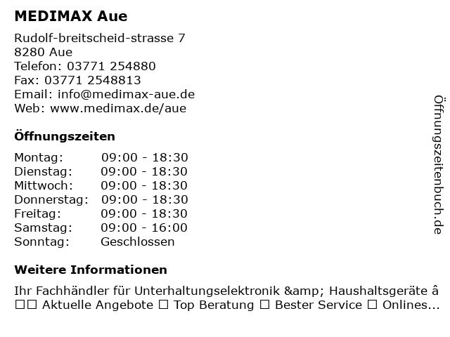 MEDIMAX Electronic Lichtenau GmbH in Aue: Adresse und Öffnungszeiten