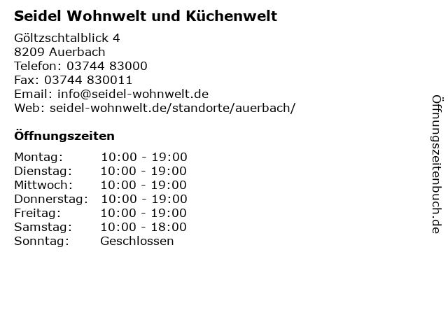 ᐅ öffnungszeiten Möbel Seidel Auerbach Göltzschtalblick 4 In