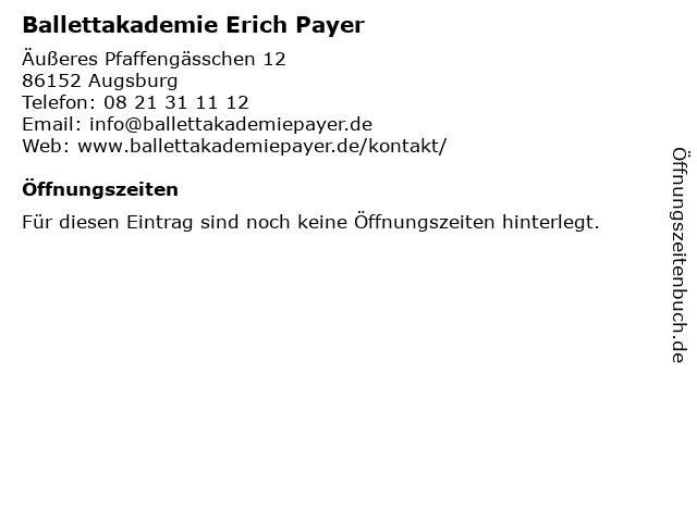 Ballettakademie Erich Payer in Augsburg: Adresse und Öffnungszeiten