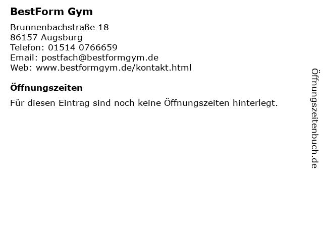 BestForm Gym in Augsburg: Adresse und Öffnungszeiten
