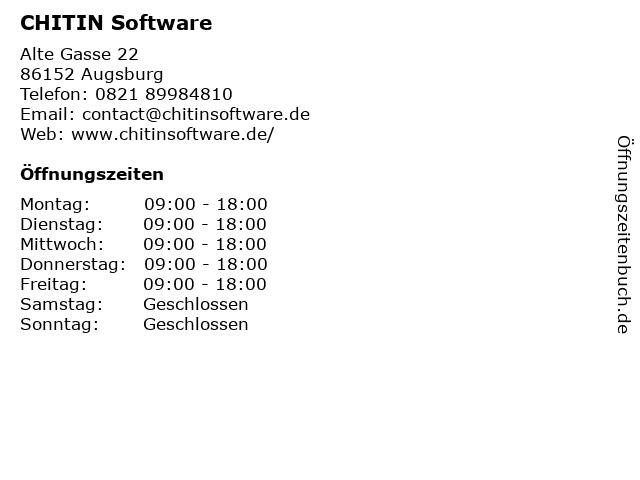 CHITIN Software in Augsburg: Adresse und Öffnungszeiten