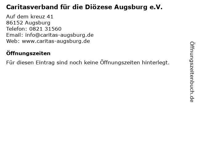 Caritasverband für die Diözese Augsburg e.V. Berufsfachschule für Altenpflege in Augsburg: Adresse und Öffnungszeiten