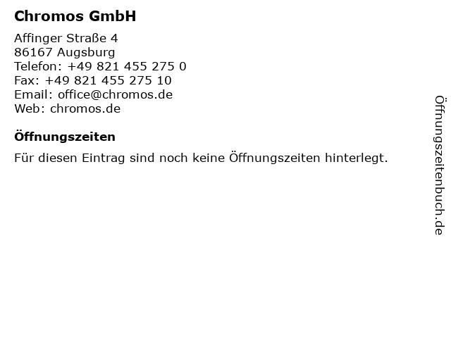 Chromos GmbH in Augsburg: Adresse und Öffnungszeiten