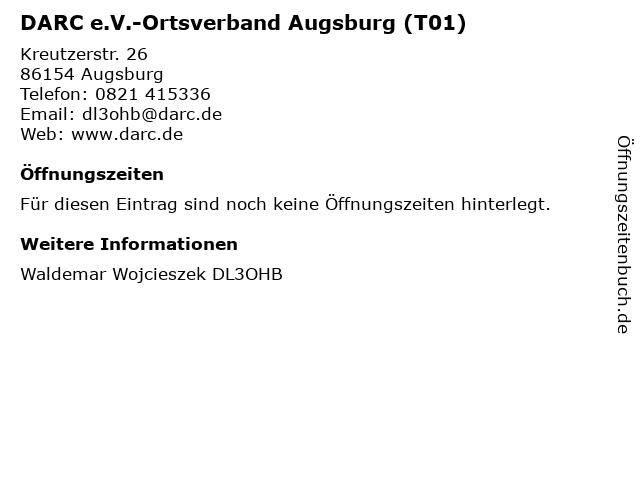 DARC e.V.-Ortsverband Augsburg (T01) in Augsburg: Adresse und Öffnungszeiten