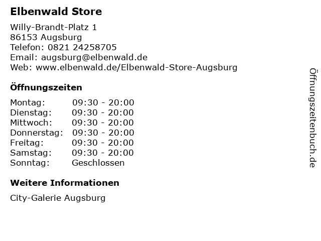 Elbenwald Store in Augsburg: Adresse und Öffnungszeiten