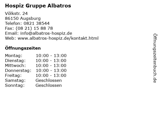 Hospiz Gruppe Albatros in Augsburg: Adresse und Öffnungszeiten