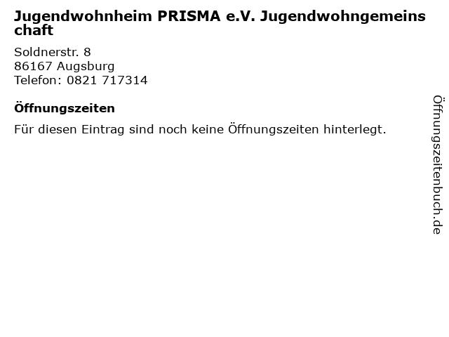 Jugendwohnheim PRISMA e.V. Jugendwohngemeinschaft in Augsburg: Adresse und Öffnungszeiten