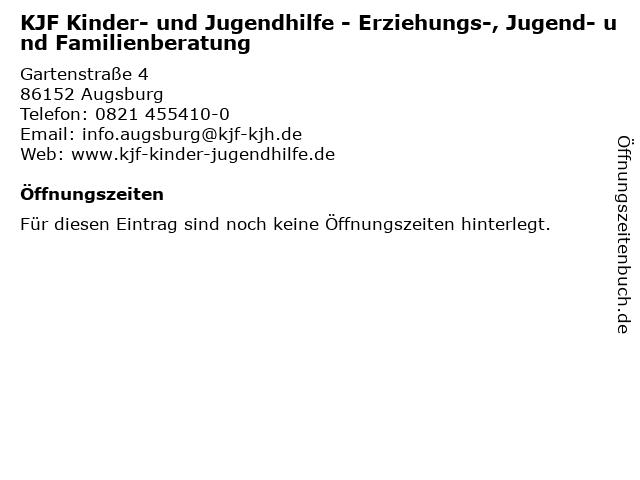 KJF Kinder- und Jugendhilfe - Erziehungs-, Jugend- und Familienberatung in Augsburg: Adresse und Öffnungszeiten