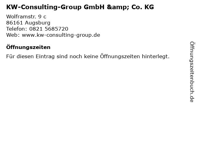 KW-Consulting-Group GmbH & Co. KG in Augsburg: Adresse und Öffnungszeiten
