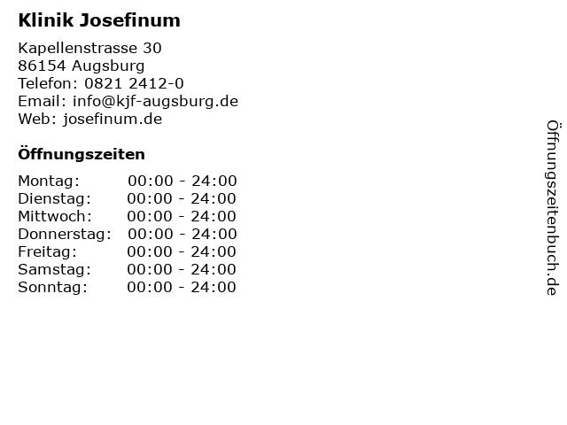 Klinik Josefinum in Augsburg: Adresse und Öffnungszeiten