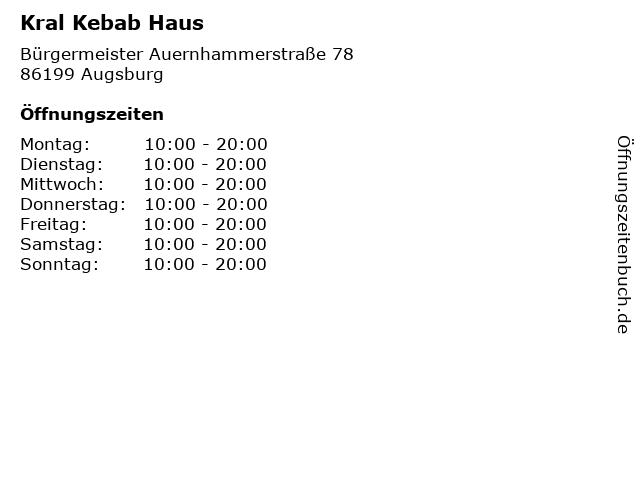 Kral Kebab Haus in Augsburg: Adresse und Öffnungszeiten