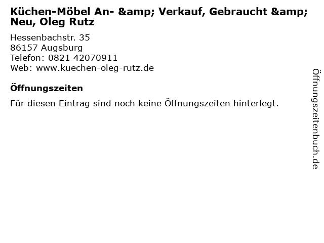 """ᐅ Öffnungszeiten """"Küchen-Möbel An- & Verkauf, Gebraucht ..."""