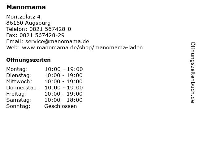 Manomama in Augsburg: Adresse und Öffnungszeiten
