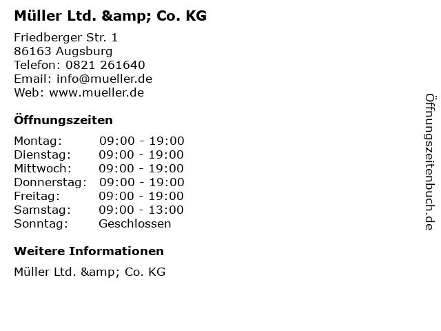 Müller Ltd. & Co. KG in Augsburg: Adresse und Öffnungszeiten