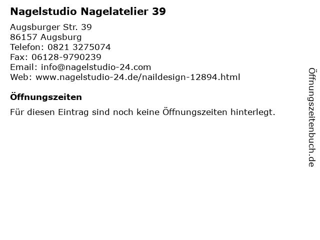 Nagelstudio Nagelatelier 39 in Augsburg: Adresse und Öffnungszeiten