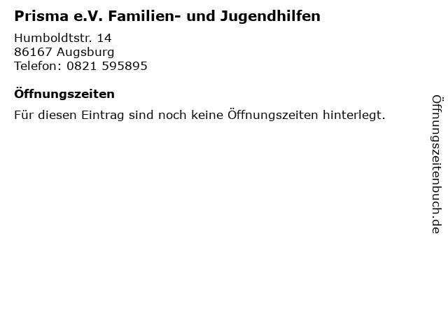 Prisma e.V. Familien- und Jugendhilfen in Augsburg: Adresse und Öffnungszeiten