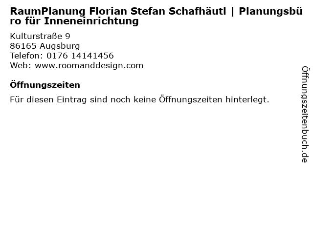 RaumPlanung Florian Stefan Schafhäutl   Planungsbüro für Inneneinrichtung in Augsburg: Adresse und Öffnungszeiten