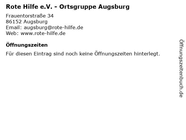 Rote Hilfe e.V. - Ortsgruppe Augsburg in Augsburg: Adresse und Öffnungszeiten