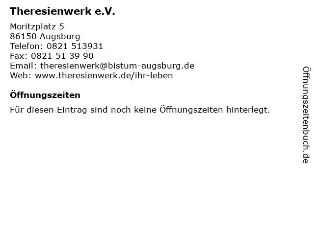 Theresienwerk e.V. in Augsburg: Adresse und Öffnungszeiten