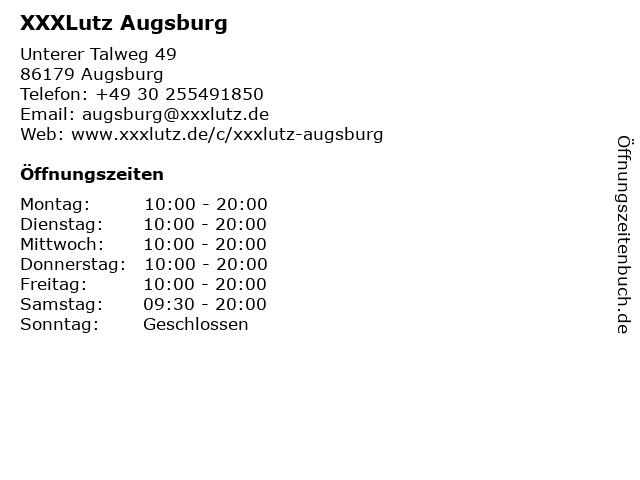 XXXLutz Augsburg in Augsburg: Adresse und Öffnungszeiten