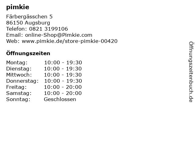 pimkie in Augsburg: Adresse und Öffnungszeiten