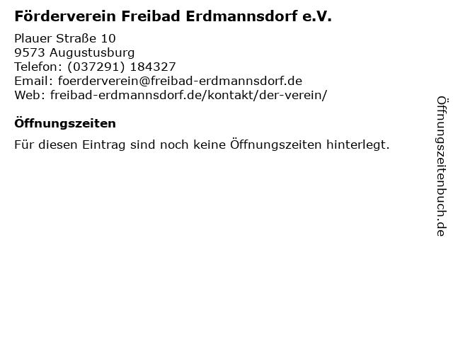 Förderverein Freibad Erdmannsdorf e.V. in Augustusburg: Adresse und Öffnungszeiten