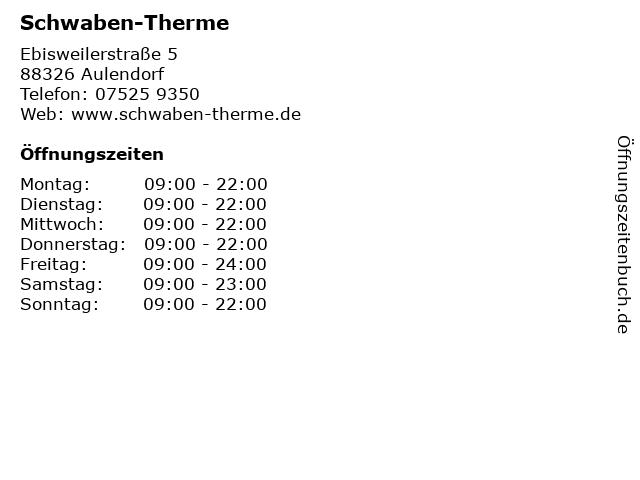 Schwaben-Therme in Aulendorf: Adresse und Öffnungszeiten