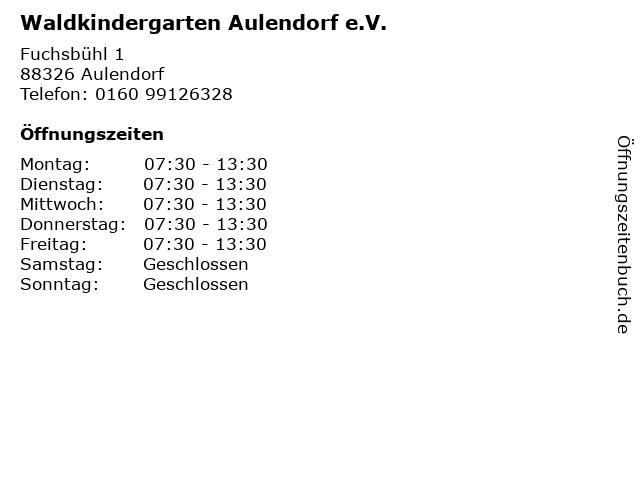 Waldkindergarten Aulendorf e.V. in Aulendorf: Adresse und Öffnungszeiten