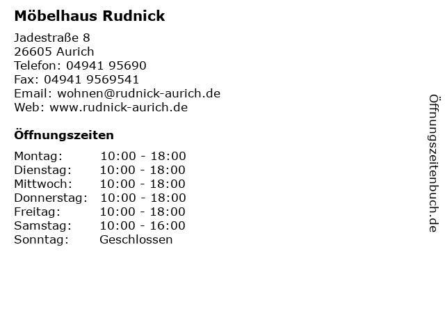 ᐅ öffnungszeiten Möbelhaus Rudnick Jadestrasse 8 In Aurich
