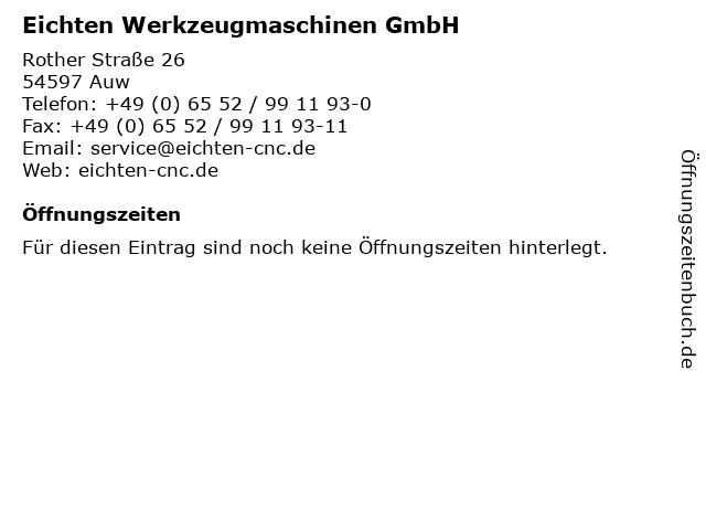 Eichten Werkzeugmaschinen GmbH in Auw: Adresse und Öffnungszeiten