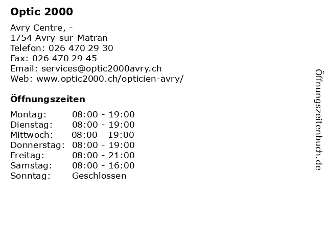 e6bafa514324c Bilder zu Optic 2000 in Avry-sur-Matran