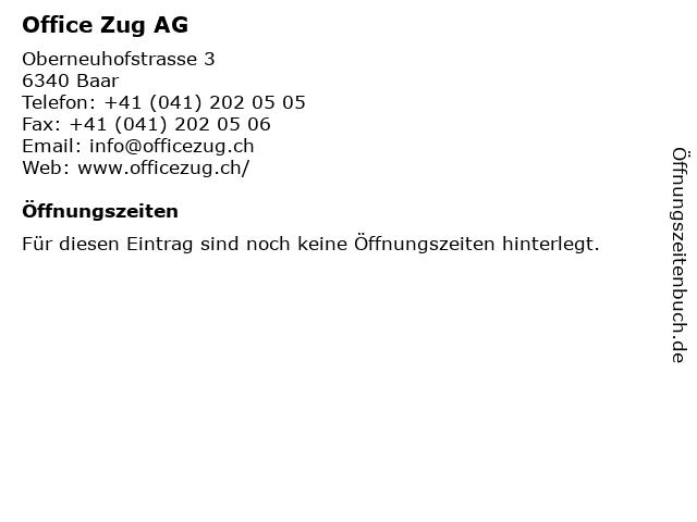 Office Zug AG in Baar: Adresse und Öffnungszeiten