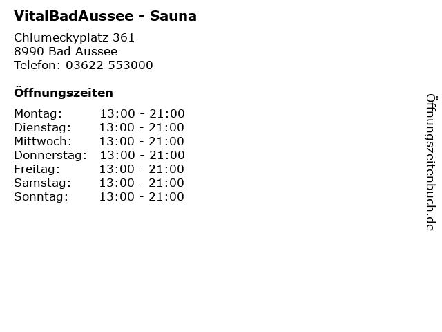 VitalBadAussee - Sauna in Bad Aussee: Adresse und Öffnungszeiten