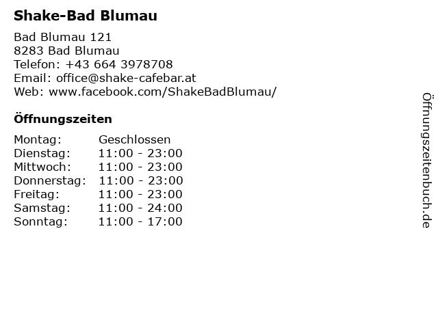 Shake-Bad Blumau in Bad Blumau: Adresse und Öffnungszeiten