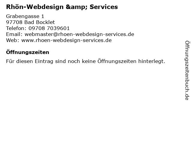 Rhön-Webdesign & Services in Bad Bocklet: Adresse und Öffnungszeiten