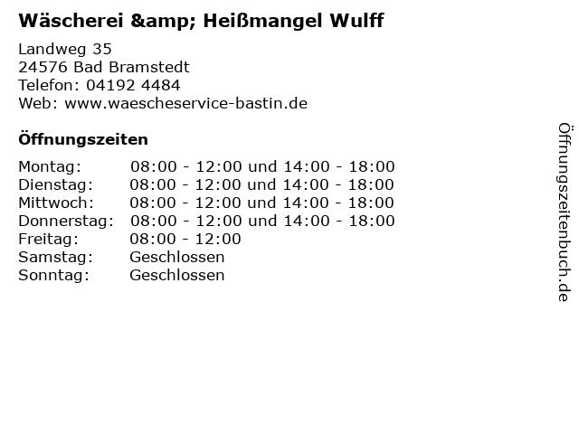 Wäscherei & Heißmangel Wulff in Bad Bramstedt: Adresse und Öffnungszeiten