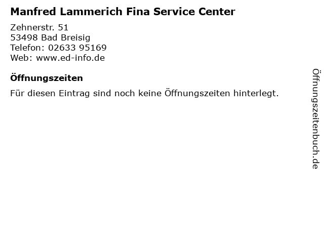 Manfred Lammerich Fina Service Center in Bad Breisig: Adresse und Öffnungszeiten