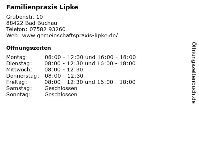 Familienpraxis Lipke in Bad Buchau: Adresse und Öffnungszeiten