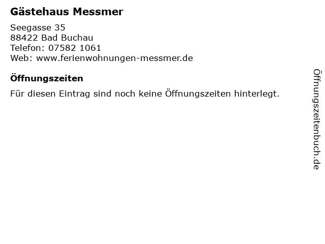 Gästehaus Messmer in Bad Buchau: Adresse und Öffnungszeiten