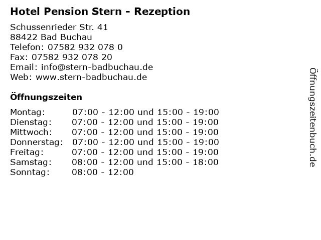 Hotel Pension Stern Peter Neudert in Bad Buchau: Adresse und Öffnungszeiten