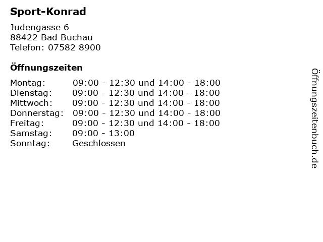 Sport-Konrad in Bad Buchau: Adresse und Öffnungszeiten
