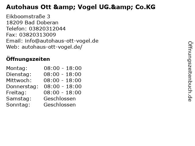 Autohaus Ott & Vogel UG.& Co.KG in Bad Doberan: Adresse und Öffnungszeiten