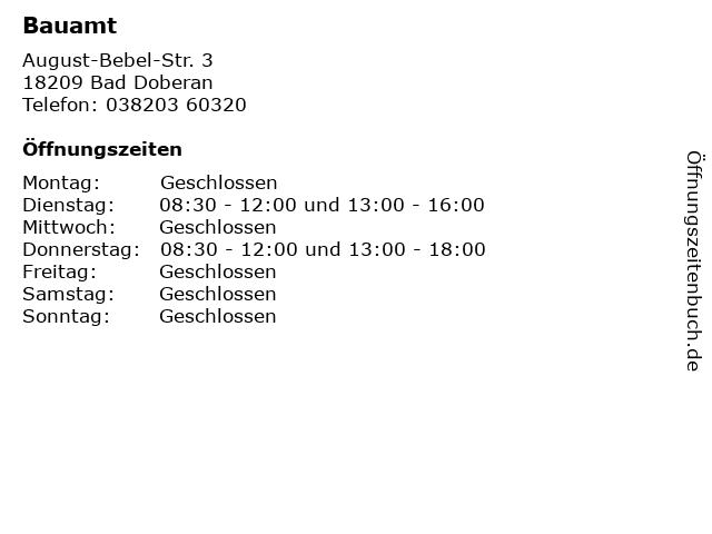 Bauamt in Bad Doberan: Adresse und Öffnungszeiten