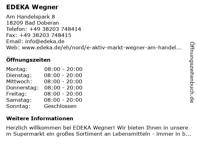 EDEKA Wegner in Bad Doberan: Adresse und Öffnungszeiten