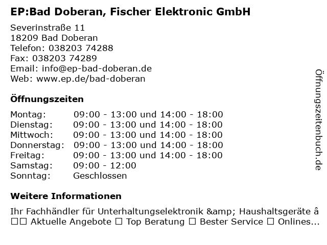 EP:Bad Doberan in Bad Doberan: Adresse und Öffnungszeiten