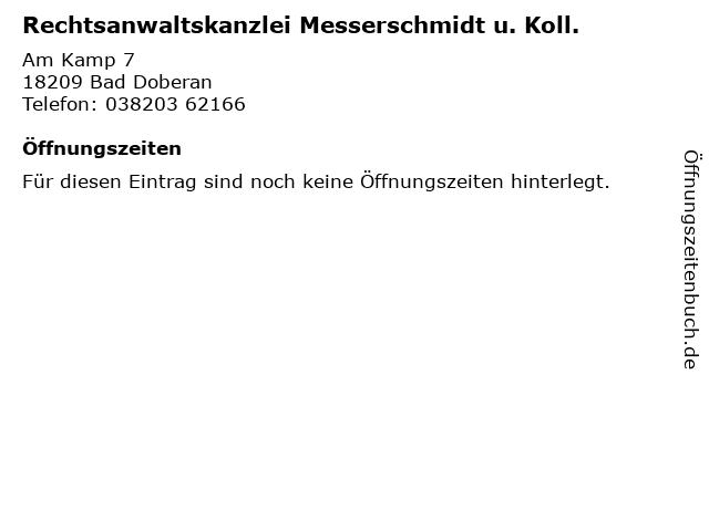 Rechtsanwaltskanzlei Messerschmidt u. Koll. in Bad Doberan: Adresse und Öffnungszeiten