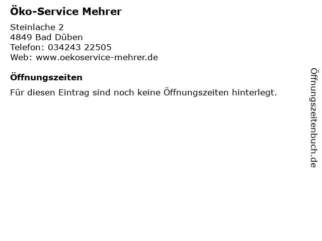 Öko-Service Mehrer in Bad Düben: Adresse und Öffnungszeiten
