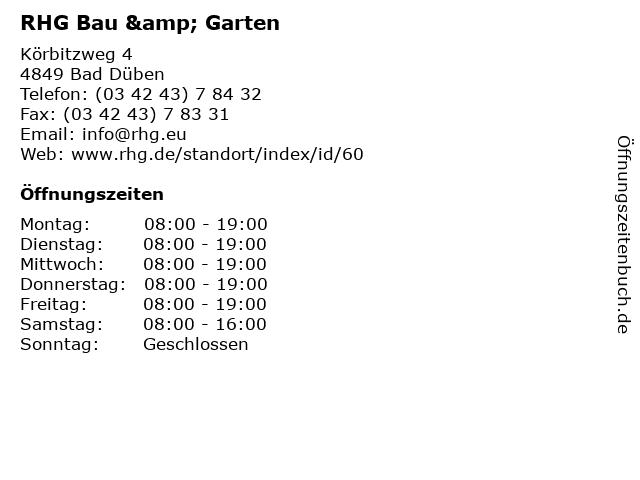 RHG Bau & Garten in Bad Düben: Adresse und Öffnungszeiten